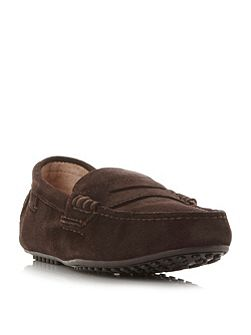 Wes-e stitch detail penny driver loafers