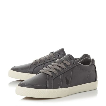 Polo Ralph Lauren Hugh contrast stripe leather trainers