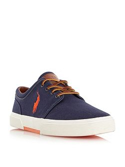 Faxon colour pop logo canvas trainer
