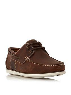 Capstan eyelet lace up boat shoes