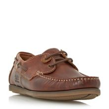 Barbour Capstan eyelet lace up boat shoes