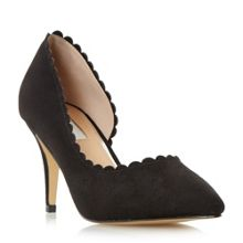 Cadalie scallop detail court shoes