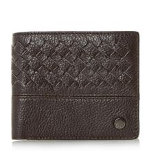Dune Piri woven leather wallet