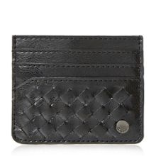 Pixxy woven leather card holder