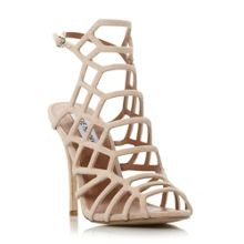 Slither caged heel sandals