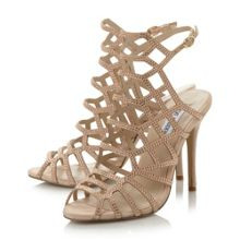 Slithur caged heel sandals