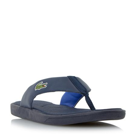 Lacoste L.30 leather toe post flip flops