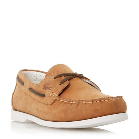 Lacoste Navire premium leather boat shoe