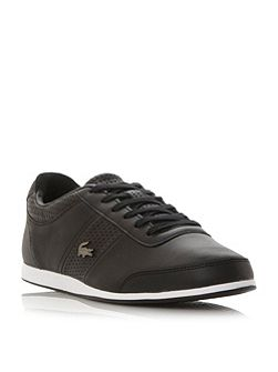 Embrun perforated detail leather trainer