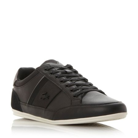 Lacoste Chayman leather lace up trainer