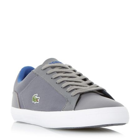 Lacoste Lerond mesh detail leather trainer