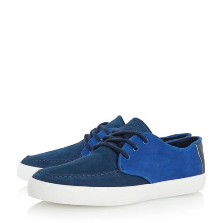 Lacoste Sevrin two tone suede lace up shoe
