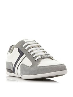 Spacit suede and leather trim trainer