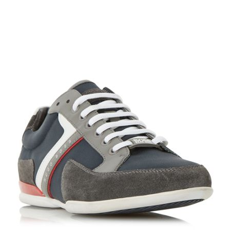 Hugo Boss Spacit suede and leather trim trainer