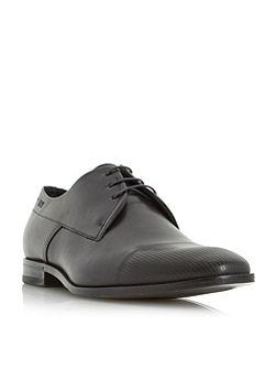 C-squader printed toe derby shoe