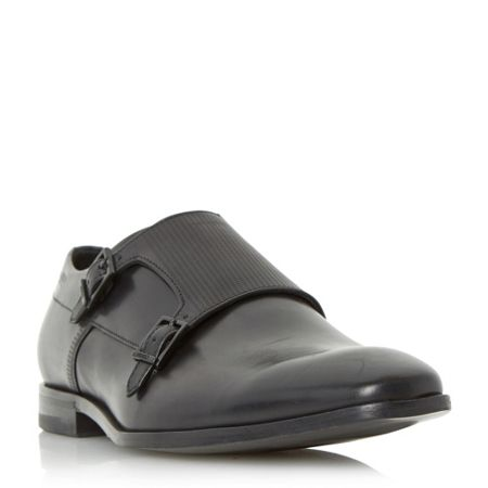 Hugo Boss C-squamok embossed leather monk shoe