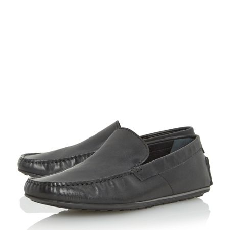 Hugo Boss C-traleo printed leather driver loafers