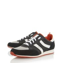 Hugo Boss Oryl colour pop mixed material trainers