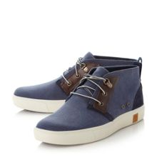 Timberland A1709 canvas cupsole chukka boots