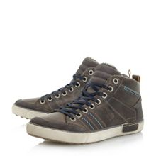 Dune Sheldon Tweed Panel Trainers