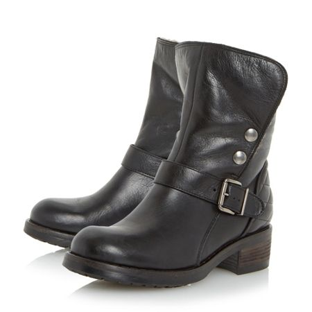 Dune Black Pacho warm lined biker boots