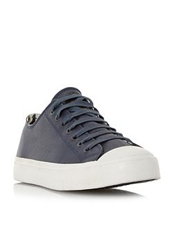 Indie toecap detail leather trainers