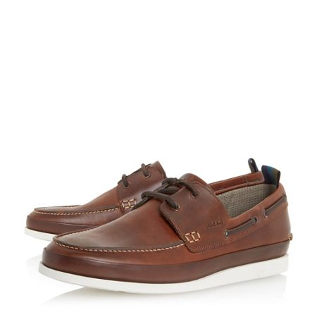 Paul Smith London Branca white sole boat shoes
