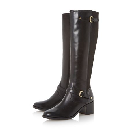 Dune Vivvi buckle knee high leather boots