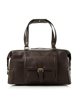 Patterson woven front pocket holdall bag