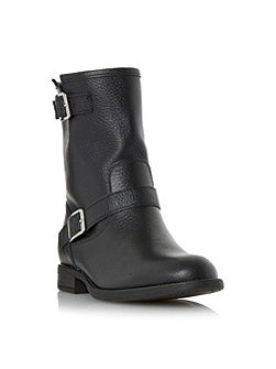 Ralphey double buckle leather calf boots