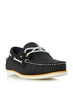 Deck 4d mixed white sole boat shoes