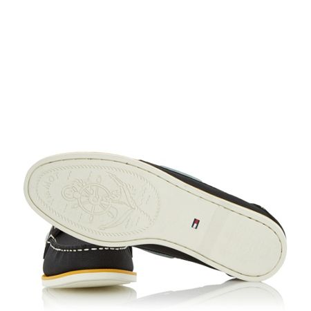 Tommy Hilfiger Deck 4d mixed white sole boat shoes