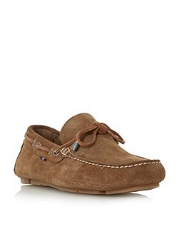 Monte 3b suede lace up driver loafers