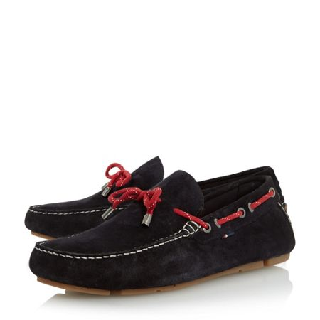 Tommy Hilfiger Monte 3b suede lace up driver loafers