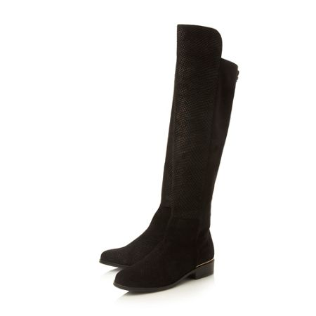 Dune Trish luxe mix material stretch boots