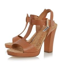 Ismin cork detail t-bar sandals