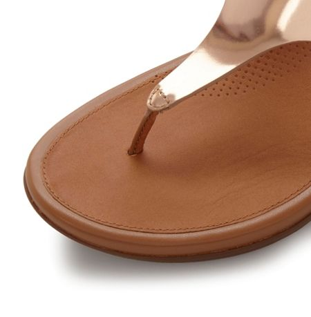 FitFlop Gladdie metallic toepost wedge sandals