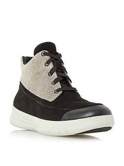 Sporty-pop high lace up sneakers