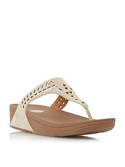 Carmel embellished wedge sandals