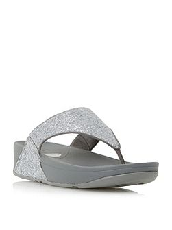 Lulu superglitz toepost sandals