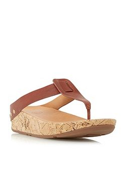 Ibiza cork wedge sandals