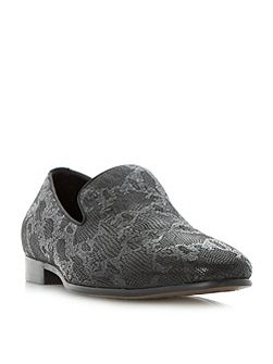 Rex Embossed Print Loafers