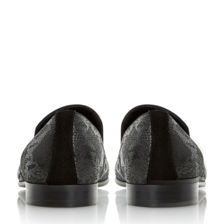 Dune Rex Embossed Print Loafers