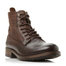 Compass Contrast Panel Leather Boots
