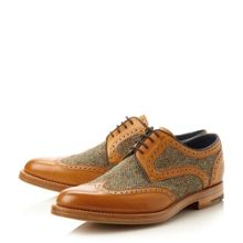 Dowd Tweed Panel Leather Derby Shoes