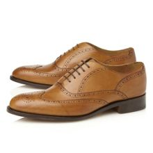 Dune Newport 5 eye wingtip brogues