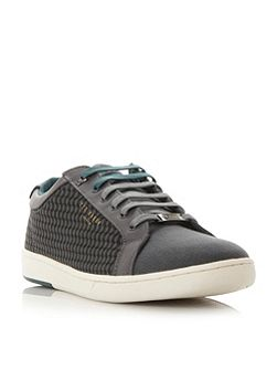 Keeran print detail lace up trainer