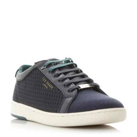 Ted Baker Keeran print detail lace up trainer