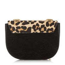 Evita snake chain mini saddle bag