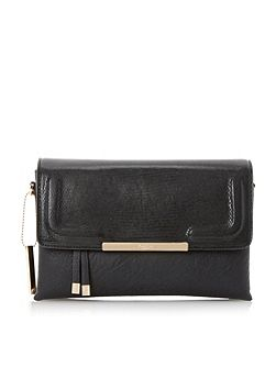 Dune Emory foldover multiple compartment clutch bag